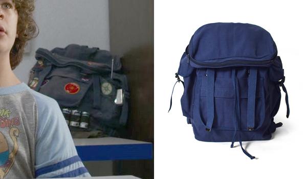 Dustin backpack in Stranger Things Season 3
