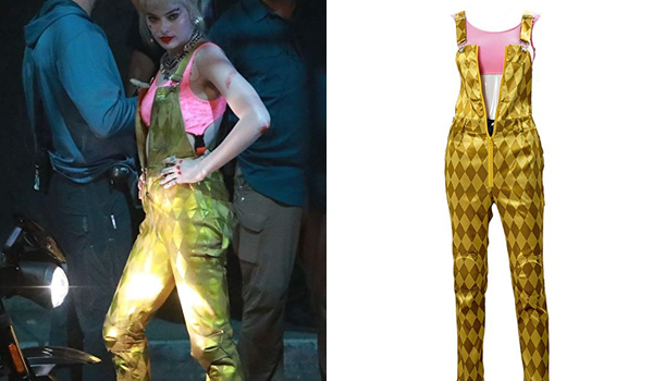 Harley Quinn Gold Dungaree Jump suit Birds of Prey