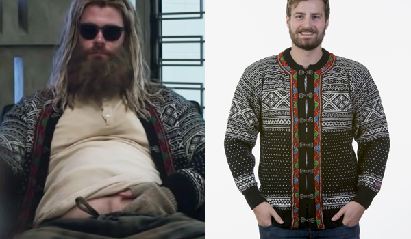 Thor Cardigan in Avengers: End Game