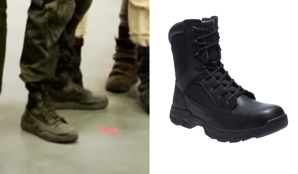 Rick Flag (Joel Kinnaman) boots in The Suicide Squad