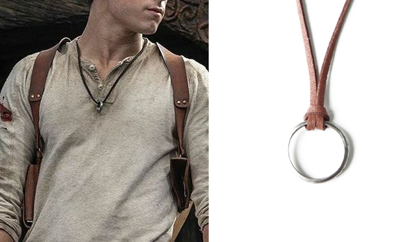 Tom Holland Necklace in Uncharted as Nathan Drake