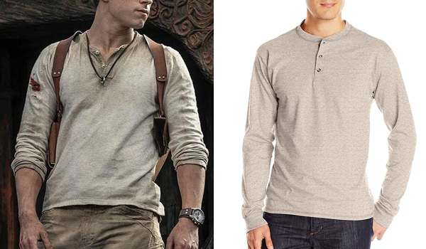 Tom Holland Shirt in Uncharted as Nathan Drake