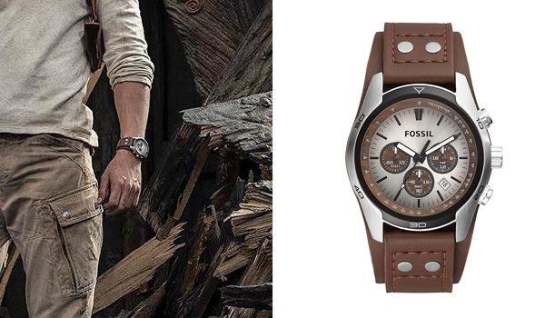 Nathan Drake (Tom Holland) watch in Uncharted