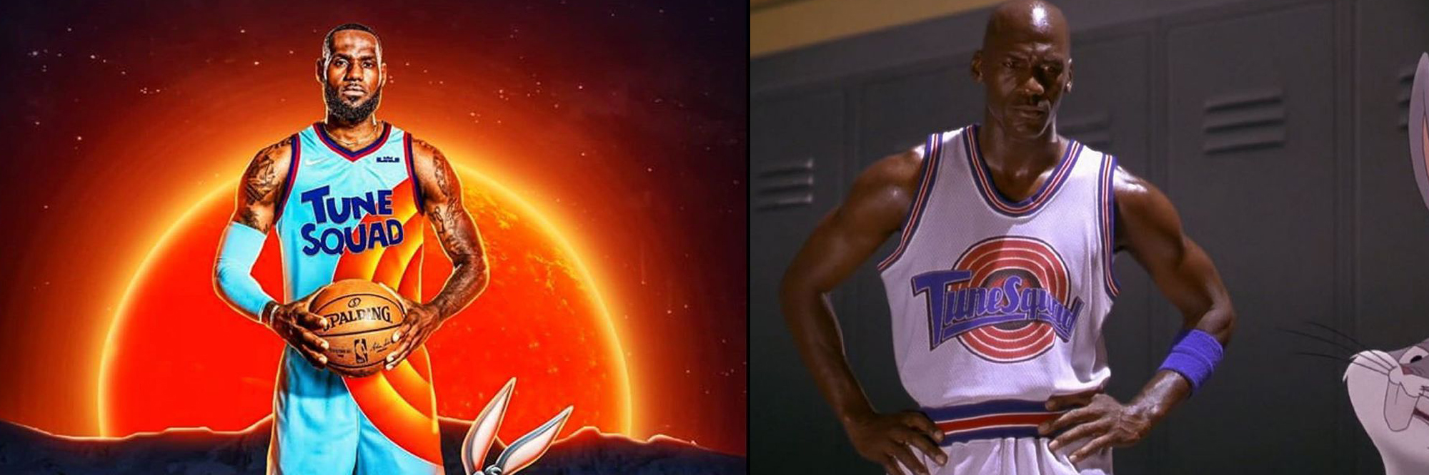 Lebron James (Space Jam 2) & Michael Jordan (Space Jam)
